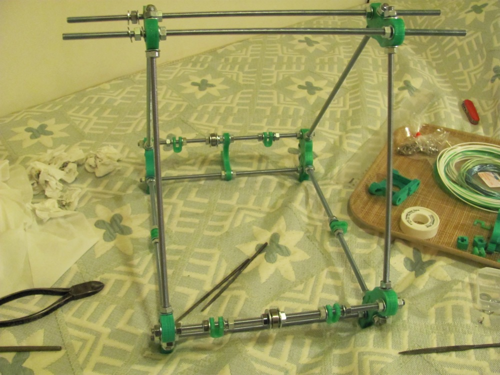 Extruder continued and start of RepRap frame (6/6)
