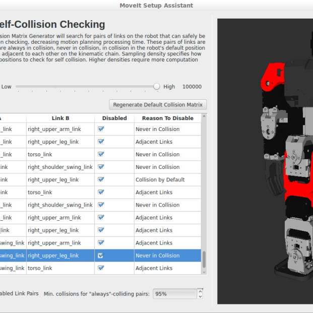 Self-collision checking optimisation in MoveIt! Never in collision