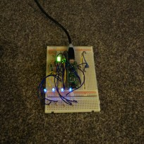 LED breadboard testing (dim)