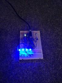 LED breadboard testing (brighter)