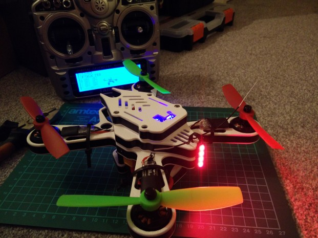 Build complete and quad linked to transmitter
